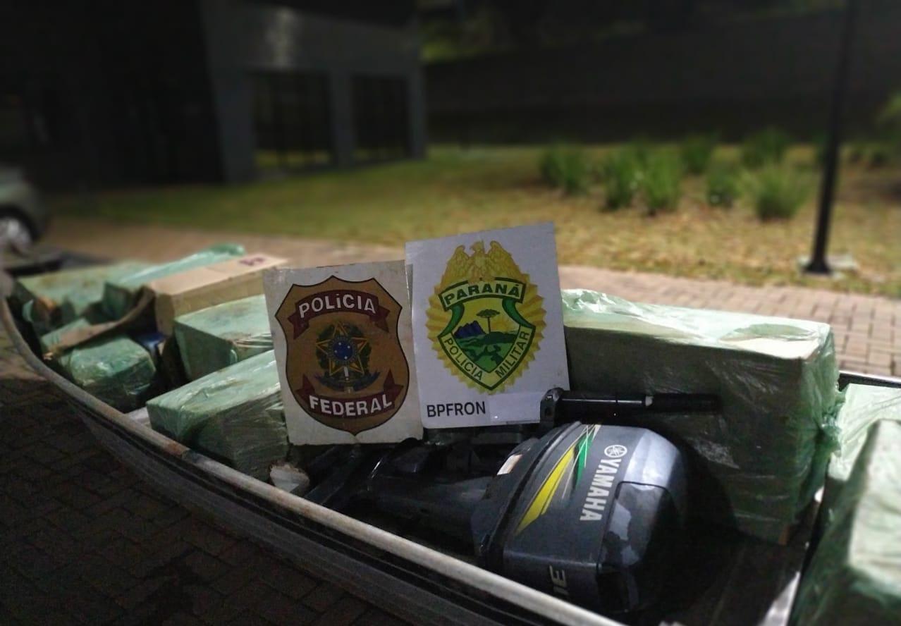 PM e PF apreendem grande quantidade de contrabando e encaminham dois suspeitos