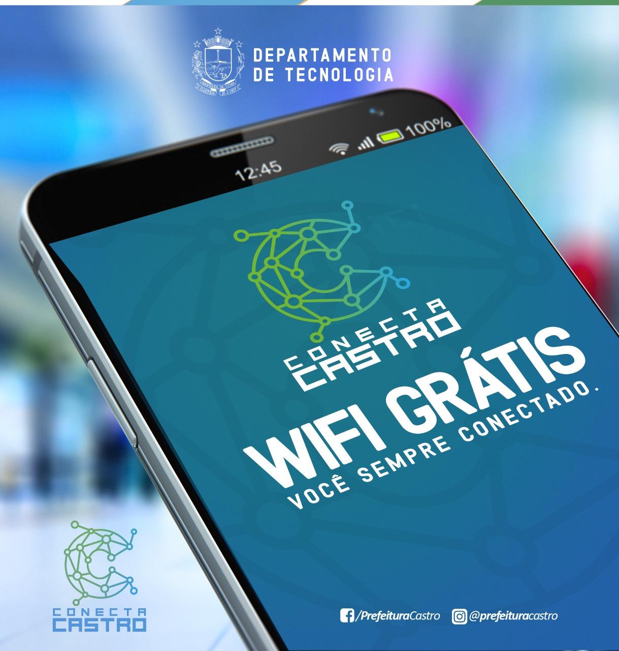 Prefeitura de Castro inicia testes de internet gratuita em praças públicas