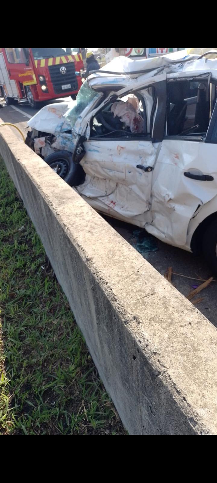 Pai morre e família fica gravemente ferida em acidente