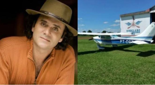 Criminosos roubam avião de Almir Sater