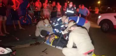 Idoso é intubado após ser atropelado por motoboy