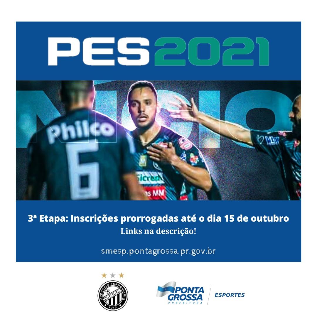 Inscrições para a 3ª etapa do Campeonato PES2021 de PG é prorrogado
